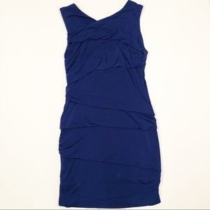 Suzi Chin royal blue evening dress fitted size 12